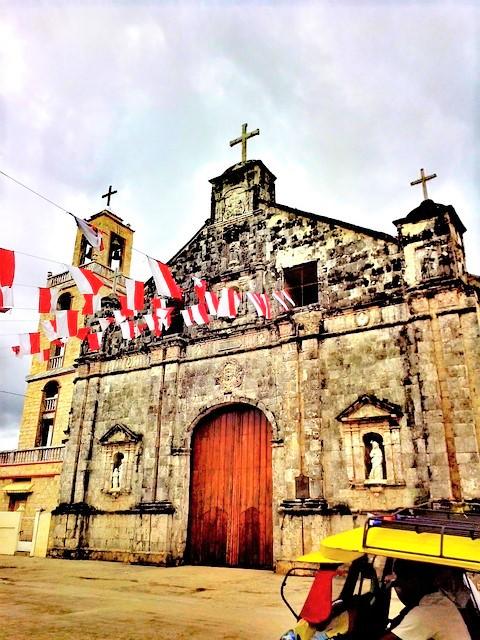 フィリピンのバンタヤン島の教会
