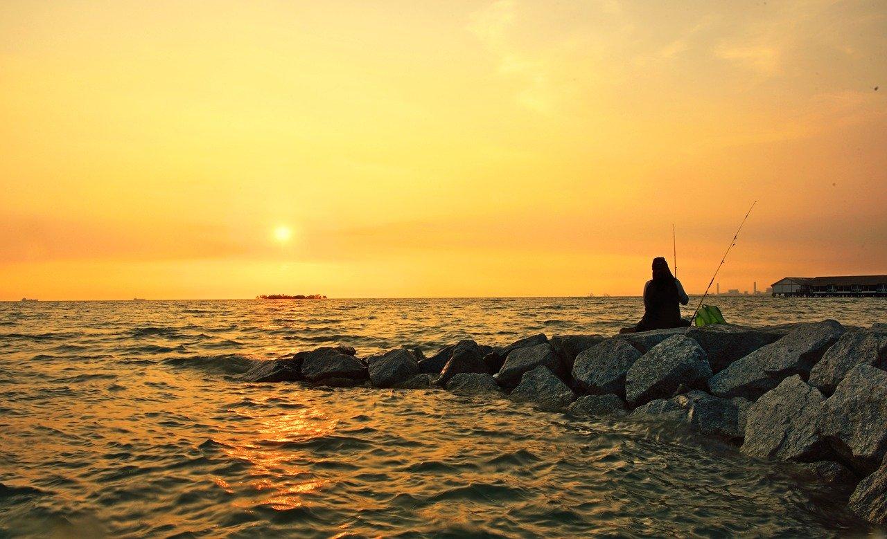 port dickson sunset Malaysia